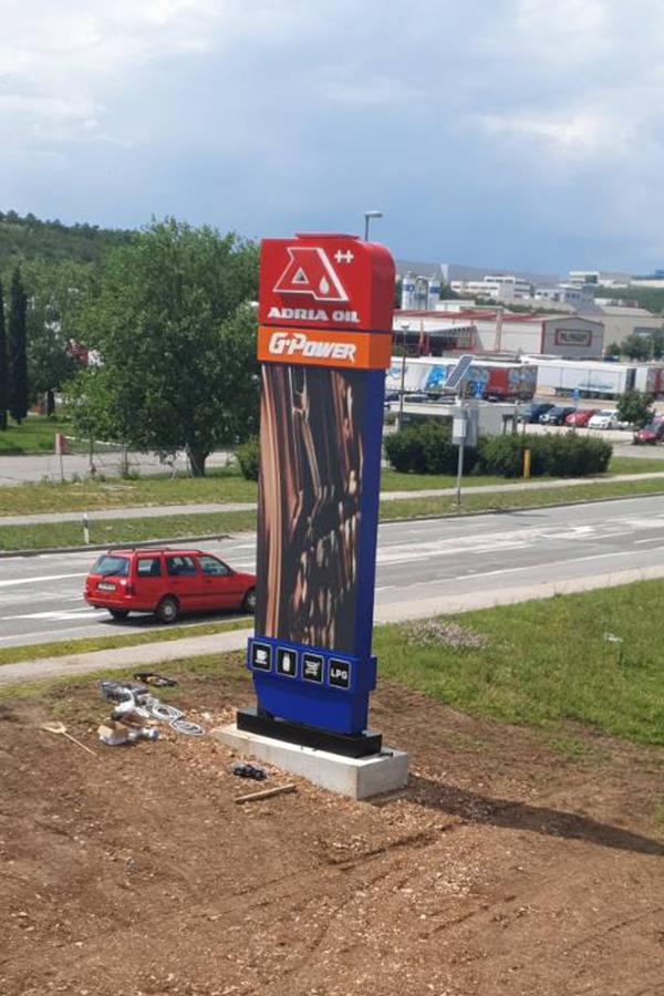 Adria Oil Kukuljanovo digitalni totem